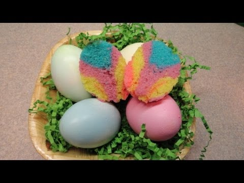 Tie-Dye Easter Cupcakes Baked in Egg Shells