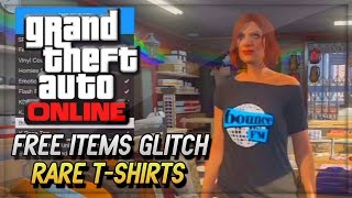GTA 5 Online Glitches - GTA V Free Rare DLC T-Shirts Glitch (GTA 5 Online Gamplay & Glitches)