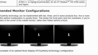 AMD Radeon HD 6950 Eyefinity Technology Setup Tutorial