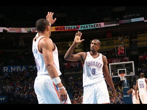 Serge Ibaka Spikes Al Jefferson's Shot Into the Stands