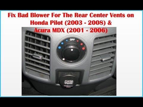How To Fix Bad Blower Rear Center Vents Honda Pilot 2003