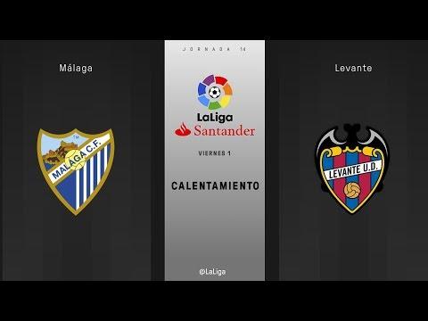 Calentamiento Málaga vs Levante