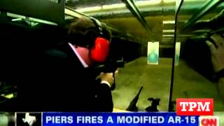 Piers Morgan Tests out Assault Rifles