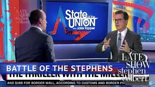 Stephen Interviews Jake Tapper's Interview Of Stephen Miller