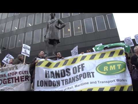 Hands Off London Transport flash mob protest