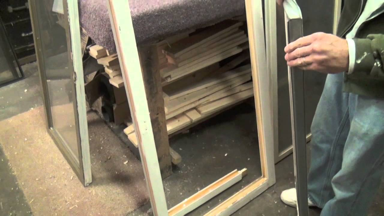 How to replace glass in a casement window sash youtube for How to install replacement windows