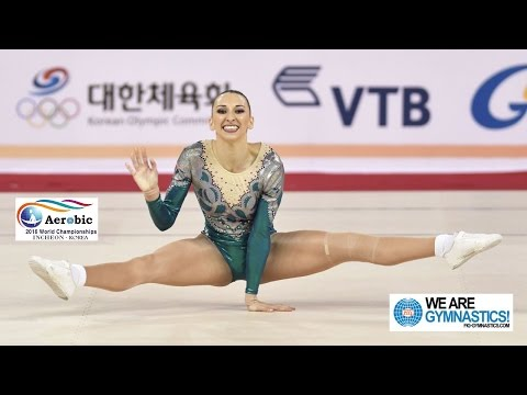 CONSTANTIN Oana Corina (ROU) - 2016 Aerobic Worlds, Incheon (KOR) - Qualifications Individual Women