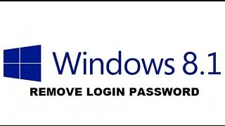 Windows 8.1: Remove Login Password