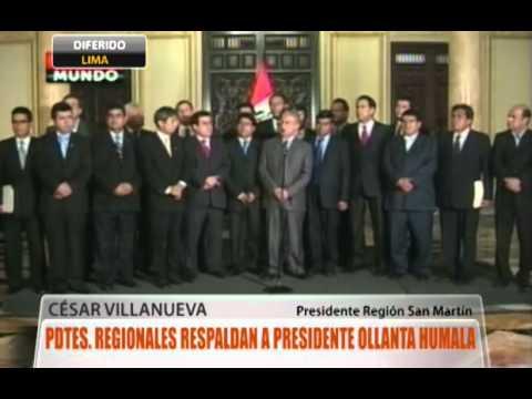 Presidentes Regionales respaldan a Presidente Humala
