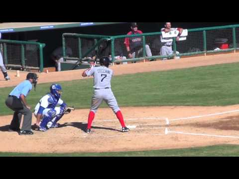 Garin Cecchini, 3B, Boston Red Sox (AFL Game At-Bats)