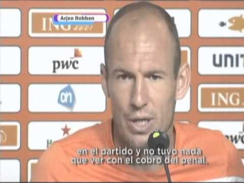 Declaracion Oficial Arjen Robben - Mexico vs Holanda 2014