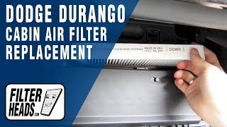 Cabin Air Filter How To- Dodge Durango