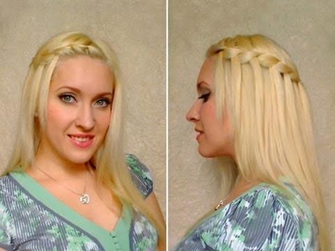 Waterfall Braid Hairstyle Tutorial For Long Hair