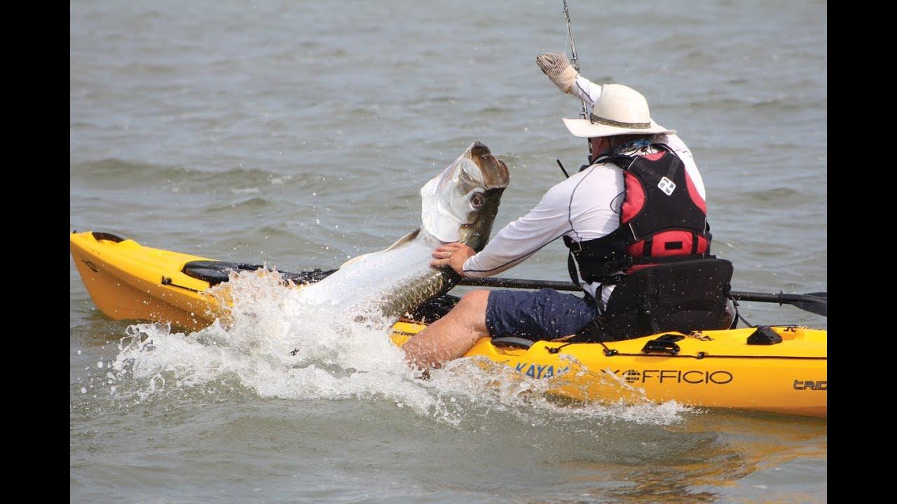 Exofficio 39 s kayak fishing game on 4 trailer youtube for Youtube kayak fishing