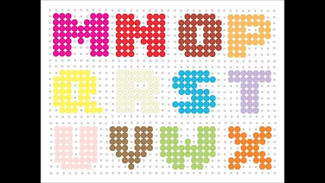 hama bead alphabet