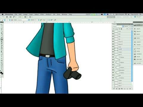 Photoshop Tutorial - How to draw cartoons in Adobe Photoshop