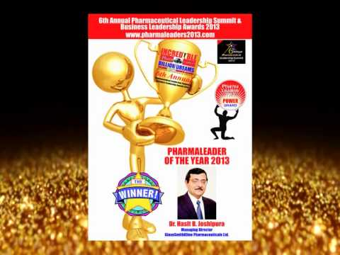 Pharmaleader of the year 2013 - Dr. Hasit.B.Joshipura, MD, GlaxoSmithKline Pharmaceuticals Ltd