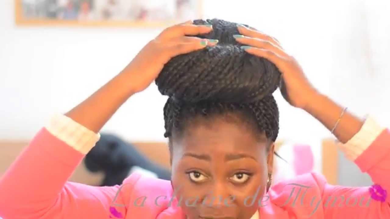 Chignons sur tresses longues Tuto coiffure - YouTube