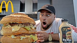 DIY GIANT MCDONALD'S BIG MAC!! (WORLD RECORD)