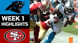 Panthers vs. 49ers   NFL Week 1 Game Highlights