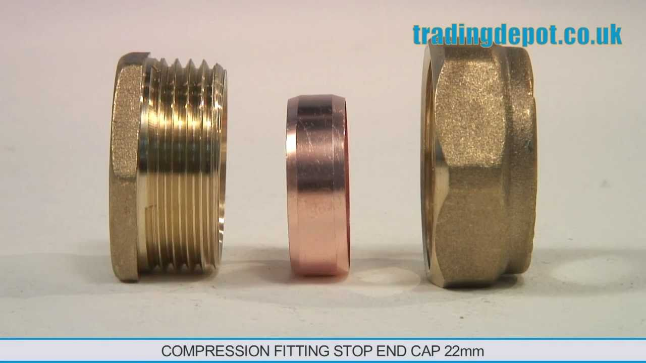 Trading depot compression fitting stop end cap mm part