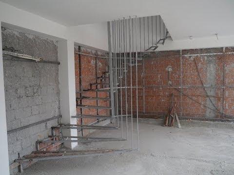 Izrada polukružnih stepenica od željezne konstrukcije, kružne stepenice, polukružne stepenice
