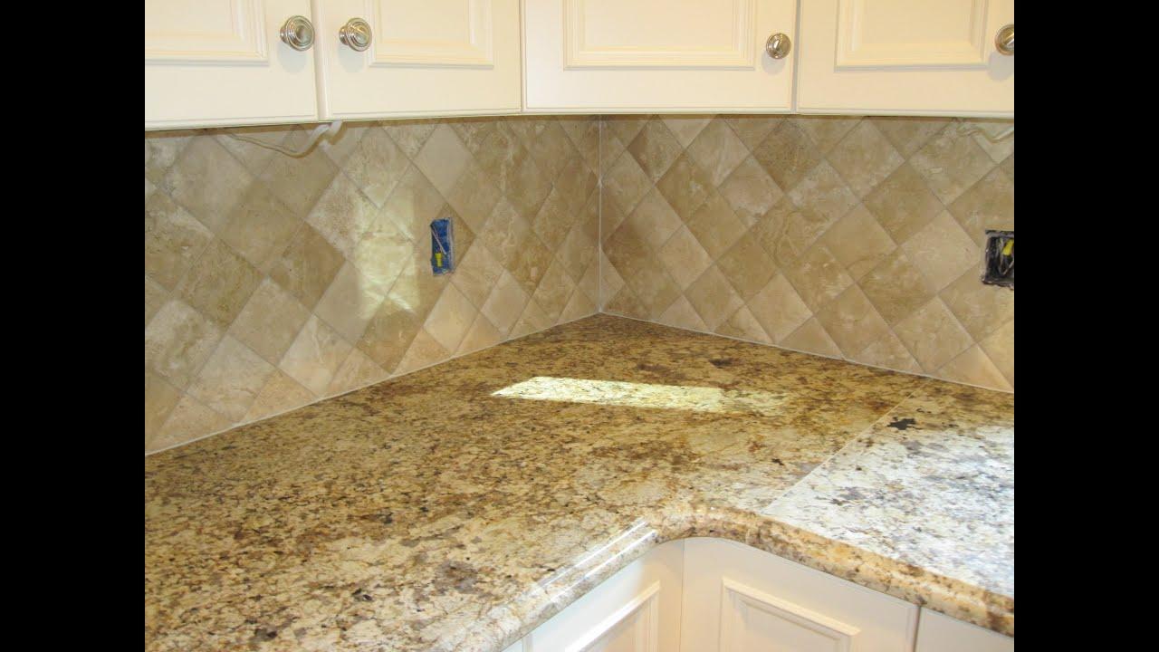 Travertine Tile Kitchen Backsplash Youtube