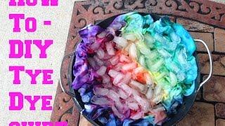 Cómo hacer una camiseta tie dye