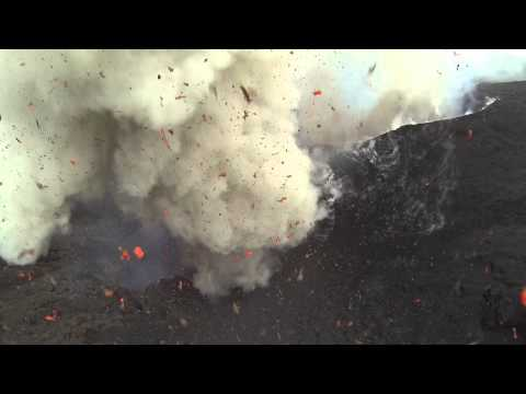 Drone Vs Volcano Video ( Drone survives!)