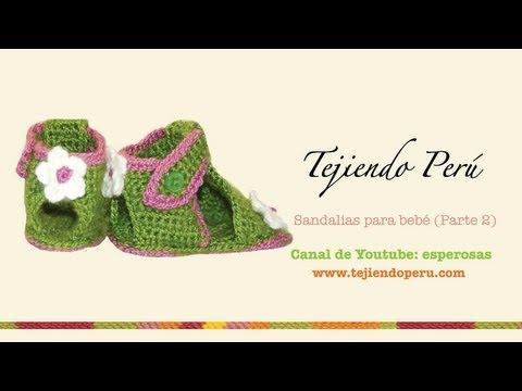 Sandalias para bebe tejidas a crochet (Parte 2: el talón y la correa)