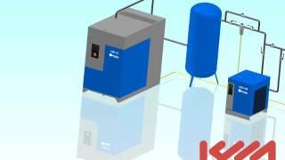 Расположение компрессорного оборудования Ceccato