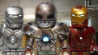 LEGO Marvel : Iron Man Mark I, Mark II, & Mark IV - Showcase
