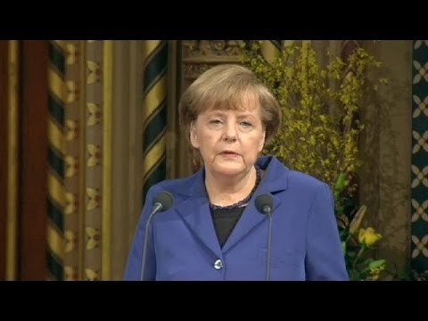 Angela Merkel beginnt historischen Besuch in London