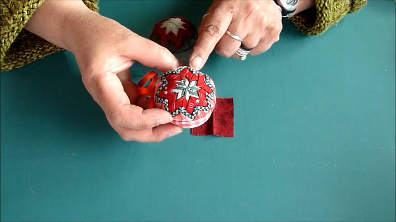 Fabric Folded Christmas Ornament - YouTube
