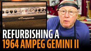 Watch the Trade Secrets Video, Refurbishing a 1964 Ampeg guitar amp