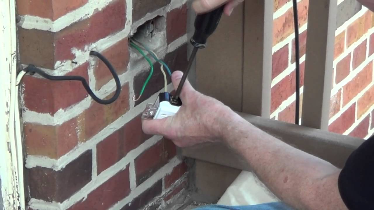 Exterior Outlet Installing An Outdoor Outlet Conduit Youtube