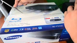 Unboxing Blue Ray Samsung BD F5100