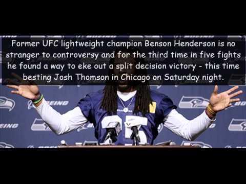 Benson Henderson edges Josh Thomson in split decision at UFC Chicago.
