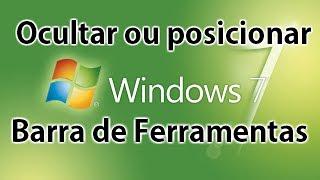 Configurar A Barra De Ferramentas No Windows 7