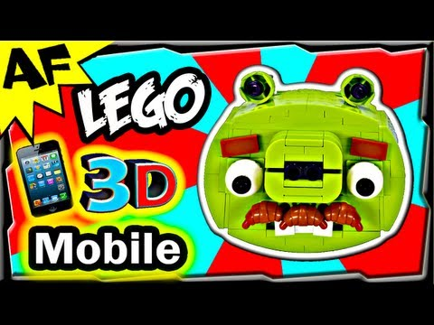 3D Mobile Lego Angry Birds MOUSTACHE PIG Animated Review with Building Instructions