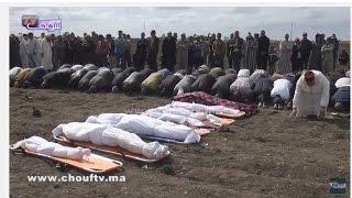 مشاهد جد مؤثرة من جنازة ضحايا حادثة سير عريس برشيد..فيديو يشد الأنفاس لحظة دفن جماعية | بــووز