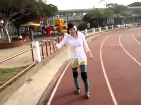 polio women practice walking workout