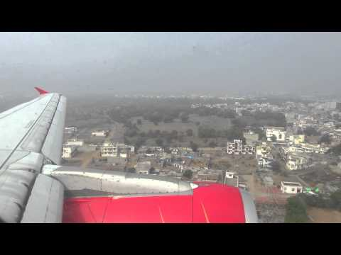 Air India Airbus A319 landing in JAI
