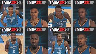 NBA 2K15 Graphics Comparison, OKC Thunder Roster! NBA 2K15