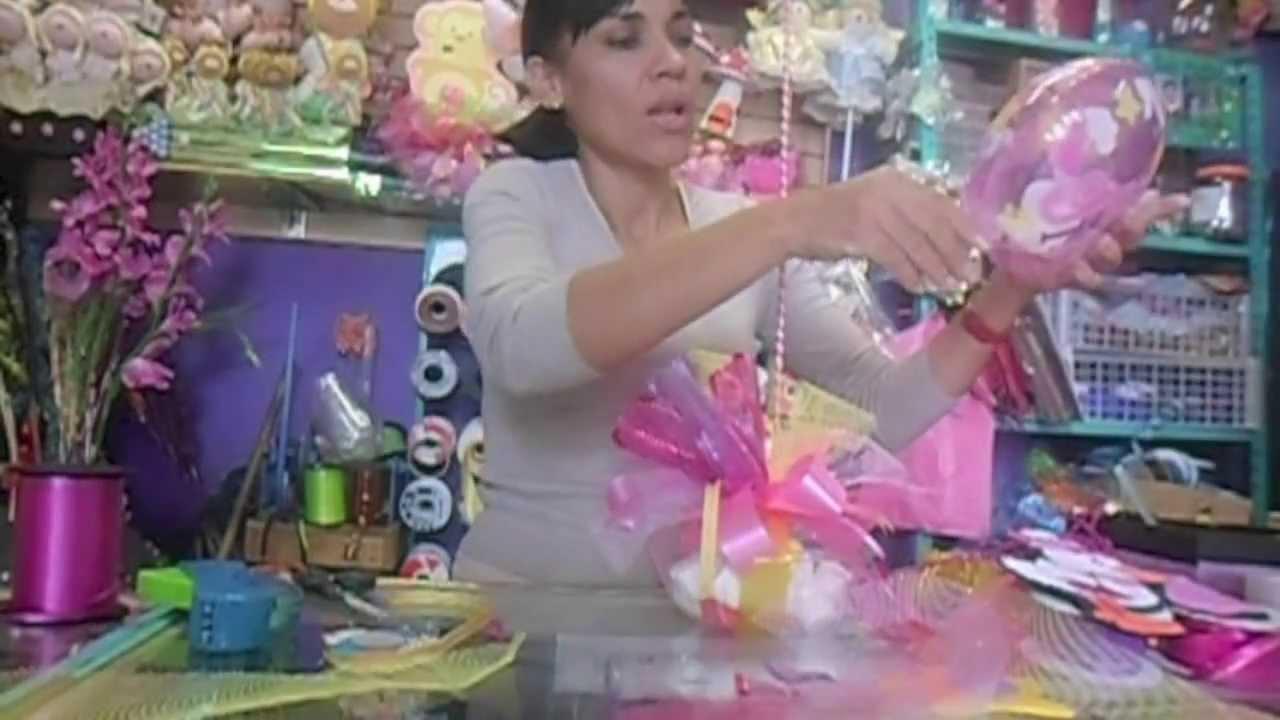 Centro de mesa baby shower manualidades de vero youtube - Manualidades centros de mesa ...