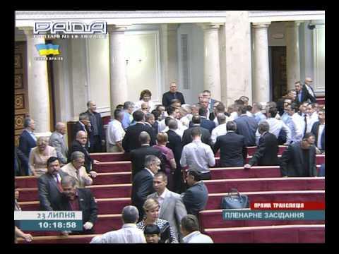 Депутаты снова подрались в Раде 23.07.2014 (видео+)
