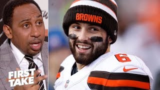Stephen A: Baker Mayfield mistreated Hue Jackson | First Take