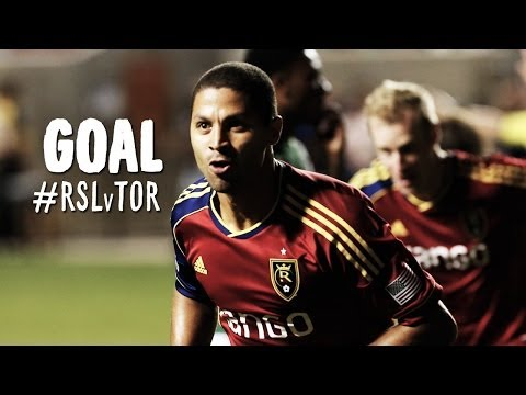 GOAL: Alvaro Saborio chips one in past Juilio Cesar | Real Salt Lake vs Toronto FC