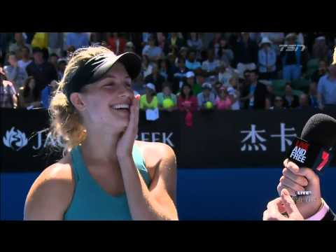 Eugenie Bouchard's big moment