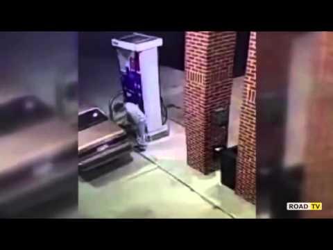 Поджег автозаправку из за паука